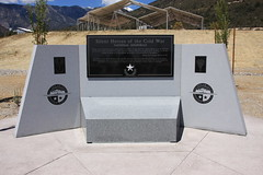 A vault filled with personal mementos from the victims loved ones lies at the foot of the Silent Heroes of the Cold War Memorial (USDAgov) Tags: forestry nevada fs humboldttoiyabenationalforest springmountainsnationalrecreationarea senatorharryreid mariankennedy silentheroesofthecoldwarmemorial steveririe
