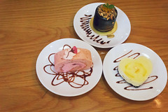 Welcome to the Cake Party (iSam's) Tags: chocolate orange mousse cake sakura roll yuzu cheesecake 1985 party isam 2016 colorful