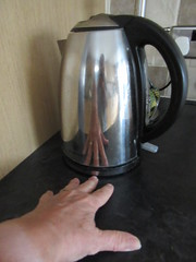 Sunday, 21st, 2016, My early morning cuppa IMG_4351 (tomylees) Tags: essex morning summer august 21st sunday 2016 kettle carol reflection kitchen