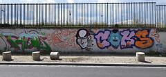 Tacos     Bbar    Joker     Coks     Kashink (HBA_JIJO) Tags: streetart urban vitry vitrysurseine kashink art france hbajijo wall mur painting bbar letters peinture lettrage lettres lettring writer paris94 spray bebarbarie charactere tacos