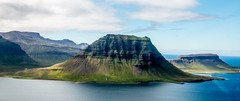 F A L L (HarryHarper) Tags: green blue sea mountain stand alone beautiful iceland summer 216 2016 slopes famous cloud air eye flat ridges photography geography