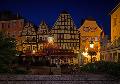 Old but beautiful ... (dipphotos) Tags: germany halftimbered architecture bluehour