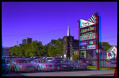 Thunder Bay Car Dealer 3-D :: Anaglyph HDR/Raw Stereoscopy (Stereotron) Tags: thunderbay canadasgatewaytothewest tbay lakehead thelakehead downtown streetphotography cardealer autoone secondhand used preowned urban citylife sign north america canada province ontario anaglyph anaglyph3d redcyan redgreen optimized anaglyphic anabuilder 3d 3dphoto 3dstereo 3rddimension spatial stereo stereo3d stereophoto stereophotography stereoscopic stereoscopy stereotron threedimensional stereoview stereophotomaker stereophotograph 3dpicture 3dglasses 3dimage twin canon eos 550d yongnuo radio transmitter remote control synchron in synch kitlens 1855mm tonemapping hdr hdri raw