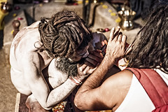 Lighting up a pipe (Mivr) Tags: india kumbhamela kumbha sadhu naga ujjain