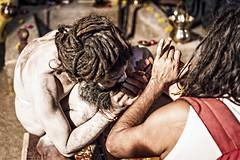 Lighting up a pipe (Mivr) Tags: india kumbhamela kumbha sadhu naga ujjain