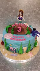 Mermaid Cake (dragosisters) Tags: shells sand underthesea ocean cake mermaid