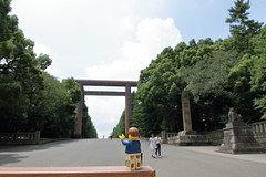 Travels of badger - Extending My 'Regards' to the Yasukuni Shrine (enigmabadger) Tags: brickarms lego custom minifig minifigure fig accessory accessories japan asia vacation trip travel outdoors japanese