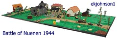 Battle of Nuenen 1944 BFVA 2016 (ekjohnson1) Tags: lego moc bfva wwii nuenen world war two tank mru cb mmcb brick arms bricklink brickfair sherman tiger jagdpanther stug cckw willys jeep