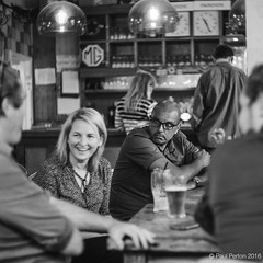 Pub on the Park, Hackney (Paul Perton) Tags: 50 bw hackney leica leicasummilux50mmf14 london m9 blackandwhite candid people pub square street streetphotography urban