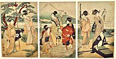 Party in front of Mt. Fuji, Wakashu, A Third Gender Exhibits, Royal Ontario Museum, Toronto, ON (Snuffy) Tags: partyinfrontofmtfuji wakashu royalontariomuseum toronto ontario canada kitagawautamaro athirdgenderbeautifulyouthsinjapaneseprints autofocus