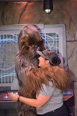 """Tracey Meeting Chewbacca • <a style=""""font-size:0.8em;"""" href=""""http://www.flickr.com/photos/28558260@N04/29123378312/"""" target=""""_blank"""">View on Flickr</a>"""