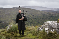 Bagpiper at Ladies View, Lakes of Killarney, Ireland (Susan.Johnston) Tags: bagpiper ladiesview lakesofkillarney ireland cosmostour