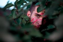 I Am Lost (Elliot Tratt) Tags: portrait portraits plant plants nature natural hiding shadow shadows edit edited canon eos 5d 5dm2 cornwall 2016 self selfportrait fine fineart concept conceptual dark mood