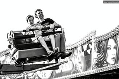 Bridlington (SteveH1972) Tags: canonef70200mmf28lusm canon700d canon 700d seaside coast 2016 eastyorkshire northernengland britain outdoor outdoors outside blackandwhite monochrome fairground ride man boy