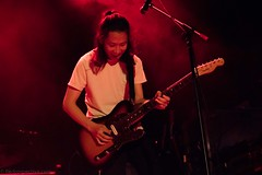 Moses (redrospective) Tags: 2016 20160908 islingtonacademyhall london moses september2016 action concert gig guitar guitarist live motion music musicians people red smiling spotlights