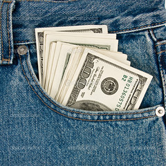 Money in  front-pocket  of jeans (stormmie) Tags: dollar jeans pocket currency wealth finance blue money shopping business finances poverty wages saving cash economy frontpocket front account bank banking banknote capital concepts credit debt deposit economic exchange financial flow funds greenbacks growth income invest investment keep loan making market mortgage notes poor profit rich save security