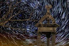 Star trails vortex - Gergovie (cleostan) Tags: vortex circumpolaire gergovie star trails auvergne cleostan nikon tamron france puydedme nuit night ciel sky etoiles filantes