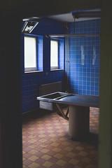 Tiny Blue Morgue. (GeoVdub) Tags: tiny blue morgue abandoned mortuary derelict decay urbex