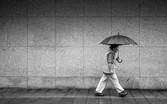 Passing By (Sven Hein) Tags: frau regenschirm menschen leute regen strasse herbst schwarzweiss strassenfotografie passingby woman umbrella people rain street streetlife autumn fall bw blackandwhite candid streetphotography sony rx100m3 rx100iii