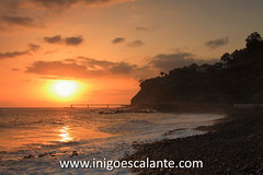 Playa de Formosa (Iigo Escalante) Tags: ocean travel viaje sunset sea summer sky orange sun beach portugal nature water landscape mar europa europe paisaje atlantic national verano planet conde lonely madeira geographic nast viajar traveler islademadeira diariodeviajes