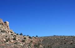 Red Rock Canyon. Clear sky. (DigitalMosaics) Tags: redrockcanyon park travel nature outdoors amazing lasvegas hiking nevada rockclimbing naturelove nationalconservationarea placetovisit