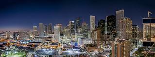 Houston Skyline & Hilton Americas [pano]
