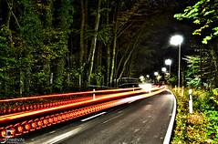 Wilkinghege (HDR) (Janeees) Tags: auto mond nikon long time nacht mnster feldweg steinfurt nachts radarfalle nordwalde b54 altenberge bundestrase nachtaufnhame exporse d5100 langzeitbellichtung lichtzieher wilikgnhege scheddebrock