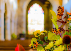 Church flowers again... (Thrippets) Tags: flowers church 35mm f18 louth stjamess nikond5100