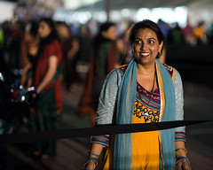 woman behind rope (minus6) Tags: street texas houston diwali d800 minus6 nikkor85mm14g