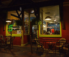 Five Star Day (davidwilliamreed) Tags: restaurant cafe nightshot availablelight afterdark athensga fivestarday