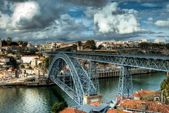 Fiction (Rui Nuns) Tags: bridge portugal ponte douro gustaveiffel hdr highdynamicrange oporto photomatix domlus fujifilms6500 ruinunes