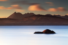Elgol From Tokavaig (angus clyne) Tags: ocean trip travel sunset sea sun mountain holiday reflection skye water rock stone set clouds photoshop canon landscape