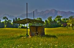 Hay (hachiko_it) Tags: trees roof italy mountain alps green grass canon italia hay hdr dolomites belluno dolomiti veneto fieno eos450d bellunesi sedico chiarasirotti