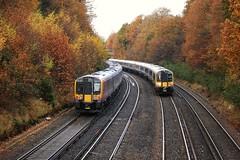 Eleven and Twelve (stavioni) Tags: west electric train south siemens railway trains farnborough swt desiro class450 class444 444012