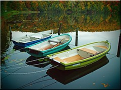 Autumn – Boats on the Lake Uklei (Ostseetroll) Tags: autumn lake water boats wasser herbst spiegelungen ukleisee reflectionsboote
