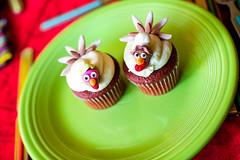 Terry and Jenna Turkey Cupcakes (TerryJohnston) Tags: thanksgiving food holiday mi dessert cupcakes dof bokeh michigan grandrapids turkeyday foodie redvelvet grap dranksgiving amazingmich canoneos5dmarkiii 5dmarkiii thecakabakery