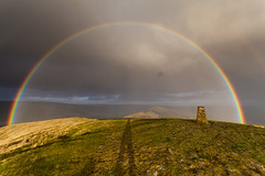Rainbow over Mam Tor (andy.d) Tags: autumn beautiful rain shower rainbow peakdistrict sheffield mamtor