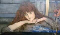 Fernand Khnopff, I Lock the Door Upon Myself, detail with woman