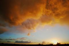 It's So Fluffy! (ingephotography) Tags: red orange cloud sun yellow clouds sunrise gold golden wolken zeeland rise geel rood gouden kerk middelburg silhouet ochtend oranje zonsopgang oost wolk goud ooster oosterkerk zonsopkomst oostkerk
