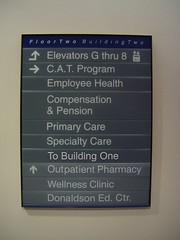 Interior Wayfinding Wall Mounted Directional Sign