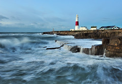 Portland Lighthouse (Mark A Jones (Andreas Jones Photography)) Tags: ocean england lighthouse seascape storm sunrise portland landscape dawn nikon rocks waves cliffs coastal dorset weymouth portlandbill roughsea jurassiccoast portlandbilllighthouse portlandlighthouse leefilters d700
