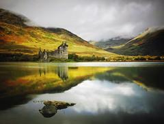 LOCH AWE-SOME (kenny barker) Tags: reflection landscape lumix scotland day cloudy lochawe kilchurncastle scottishlandscape landscapeuk panasonicg1 welcomeuk kennybarker