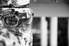 2012 11 12 - 1197 - DC - Georgetown Aqueduct Abutment (thisisbossi) Tags: blackandwhite bw usa streetart stone graffiti washingtondc blackwhite dc rocks nw unitedstates northwest highcontrast georgetown abutments ward2 aqueductabutment