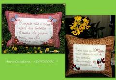 ALMOFADAS (flavia_sm1963) Tags: flores borboleta jardim almofada bordado passarinhos marioquintana pathwork aplicaao patchcolagem patchworkaplicao