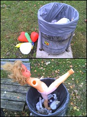 The Remains of the Day (pix-4-2-day) Tags: bench garbage doll heart balloon bin blond rubbish pix42day