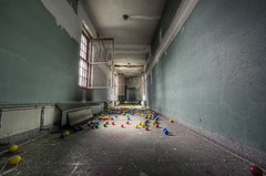 Balls Explore#4 (odin's_raven) Tags: urban colour abandoned hospital toys photography colours decay exploring balls raven asylum coloured hdr urbex odins d700 odinsraven odinsravenphotography