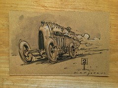 Auto Art Advent 02 (Stefan Marjoram) Tags: art classic car pencil vintage sketch advent fiat drawing racing watercolour vscc s76