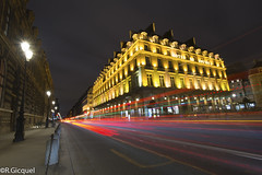 Hotel du Louvre (Paris) (renan4) Tags: street paris france night dark lights nikon long exposure cityscape rivoli trafic d800 hoteldulouvre rgicquel 1635f4vr renan4 renangicquel carswideangle