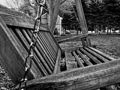 337/365 (+1) Swinger (Timothy Valentine) Tags: blackandwhite home bench 1212 monday iphone4s iphone36520