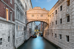 Ponte dei Sospiri - The Bridge of Sighs - (Venice, Italy) (blame_the_monkey) Tags: bridge venice italy architecture italia ponte bluehour venezia sighs sospiri venato dynamicblending